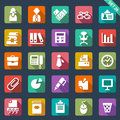 Office icons set of Royalty Free Stock Images