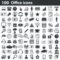 100 office icons set