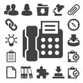 Office icons set. Illustration Royalty Free Stock Image