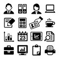 Office icons set on white background Royalty Free Stock Photography