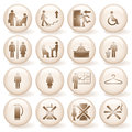 Office Icons, Signs. Royalty Free Stock Images