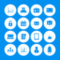 Office icons various with special design Royalty Free Stock Photos