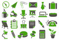 Office icons various web Stock Image
