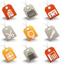 Office icons vector set of Royalty Free Stock Photography