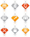 Office icons vector set of Royalty Free Stock Image