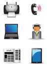 Office information technology supply icon set (vec Royalty Free Stock Photos