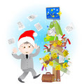 Office life - christmas Royalty Free Stock Photo