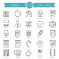 Office Line Icons Royalty Free Stock Photo