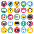 Office and Local Business Flat Icon Set Royalty Free Stock Photo