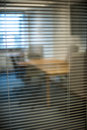 Office meeting room door glass interior design of a modern Stock Photo