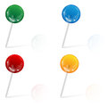 Office needles are decorated by the coloured marbles Stock Photo