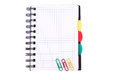Office notebook. Back to school concept. Post it note. Stock Photography