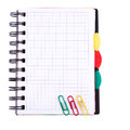 Office notebook. Back to school concept. Post it note. Stock Photo
