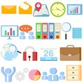 Office object easy to edit vector illustration of collection Royalty Free Stock Photo