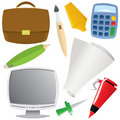 Office object set Stock Photos