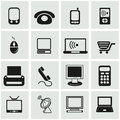 Office and organization icons set business Stock Photo