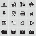 Office and organization icons set business Royalty Free Stock Photo
