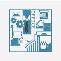 Office pack business concept with equipment Royalty Free Stock Photos