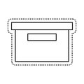 office packing box isolated icon Royalty Free Stock Photo