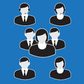 Office people icons set bisnessman group Stock Images
