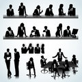 Office people set of business silhouettes on the background Stock Photo