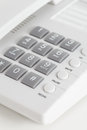 Office phone close up table on white Royalty Free Stock Photography