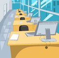 Office place cartoon background vector illustration eps Stock Images