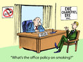 Office policy what s the on smoking Stock Images