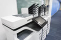 Office printers set up ready for printing business documents Royalty Free Stock Photo