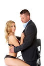 Office romance concept. Businesspeople in love.