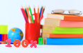 Office and school supplies on a white background Royalty Free Stock Photography