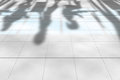 Office shadow editable vector illustration of business people shadows on an floor made using a gradient mesh Stock Photos
