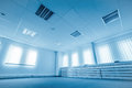 Office space in blue colors Royalty Free Stock Photo