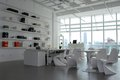 Office space a clean white Royalty Free Stock Photography