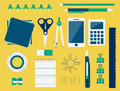 Office supplies (flat design) Stock Images
