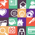 Office Supplies Icons Set Royalty Free Stock Photo
