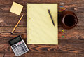 Office supplies on a table Royalty Free Stock Photo