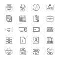 Office supplies thin icons Royalty Free Stock Photo