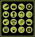 Office symbols - green. Stock Photo