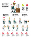Office syndrome Infographics. Healthcare and medical.