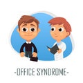 Office syndrome medical concept. Vector illustration.