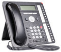 Office telephone set ip with lcd isolated on the white background Stock Photo