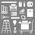 Office tools set vectors and icons for any use Royalty Free Stock Images