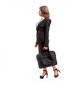 Office woman with briefcase Royalty Free Stock Photo