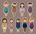 Office woman stickers Stock Image