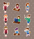 Office woman stickers Royalty Free Stock Photography
