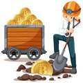 An Office Worker mining Cyber Coin