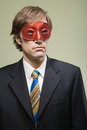 Office worker wearing mask Royalty Free Stock Images
