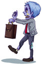 An office worker zombie illustration of on a white background Stock Photo