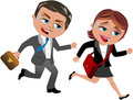 Office workers late illustration featuring bob and meg running being to isolated on white background eps file is available you can Stock Photos